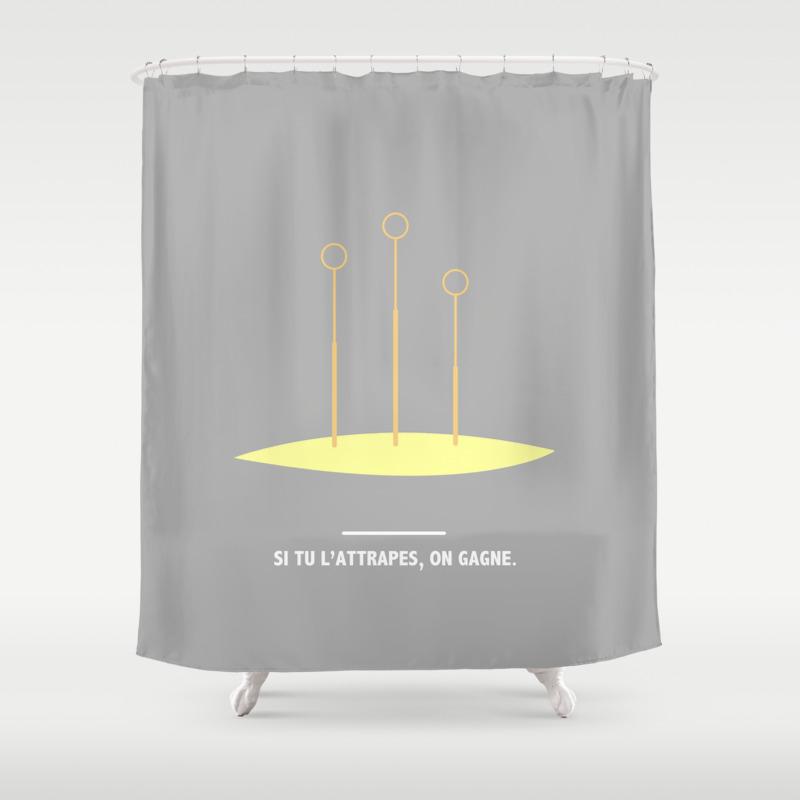 Si Tu L Attrape On Gagne Harry Potter Shower Curtain