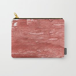 Brick red nebulous wash drawing paper Carry-All Pouch