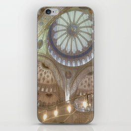 Blue Mosque, Istanbul - ceiling with hanging chandelier iPhone Skin