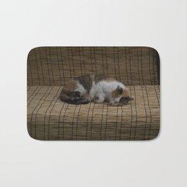 Sleeping cat Bath Mat