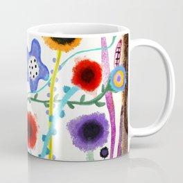Grungy retro floral burned dusted still life Coffee Mug
