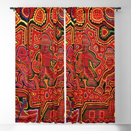 Kuna Indian Men in Canoes Blackout Curtain