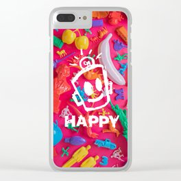 PRIDE (Plastic Menagerie Version) Clear iPhone Case