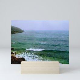 Rain on the ocean Mini Art Print