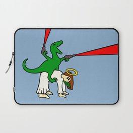 Dinosaur Riding Jesus Laptop Sleeve