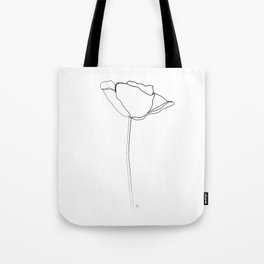"""Botanical Collection"" - Poppy Flower Tote Bag"