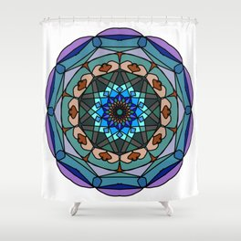 Mandala in vivid colors for energy obtaining Shower Curtain