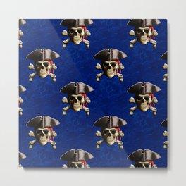 Jolly Roger In Pirate Hat Metal Print