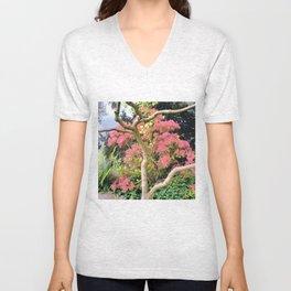 Treetrunk and flowers Unisex V-Neck