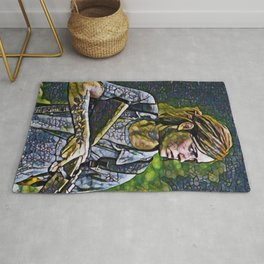 The Last of Us Ellie Artistic Illustration Infected Style Rug
