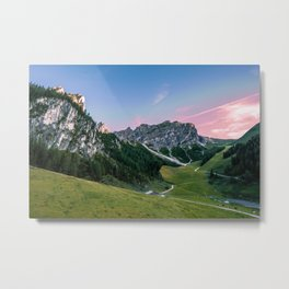 Alpine Streaks Metal Print