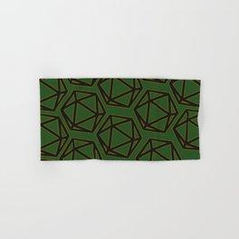 D20 Pattern - Green Gold Black Hand & Bath Towel