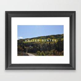 Unite the States Framed Art Print
