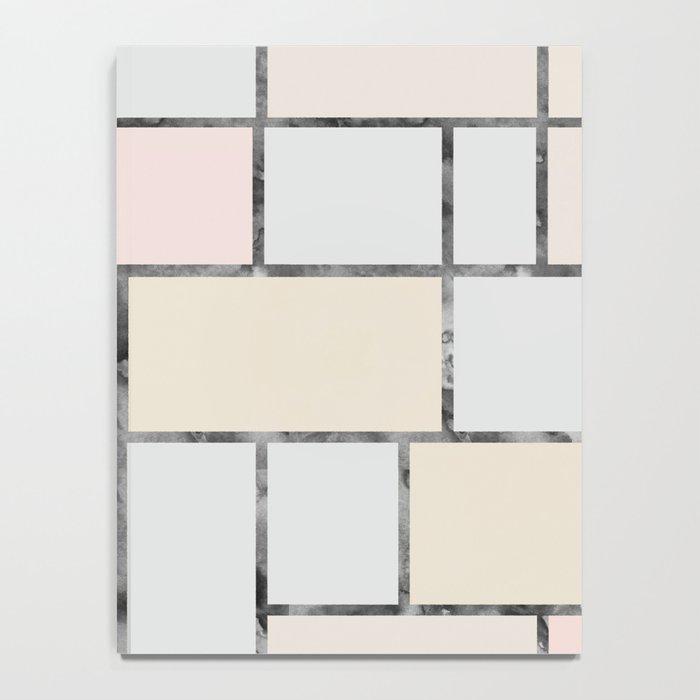 Tile pattern in soft pastel tones Notebook