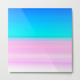 Unicorn Ombre Metal Print
