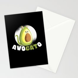 Cool Avocato Cat Fun Avocado Kitten Kitty Stationery Cards