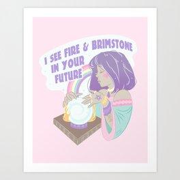 A Fire and Brimstone Future Art Print