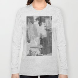 Paint (Black and White) Long Sleeve T-shirt