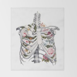 Botanatomical: Botanatomy II Throw Blanket