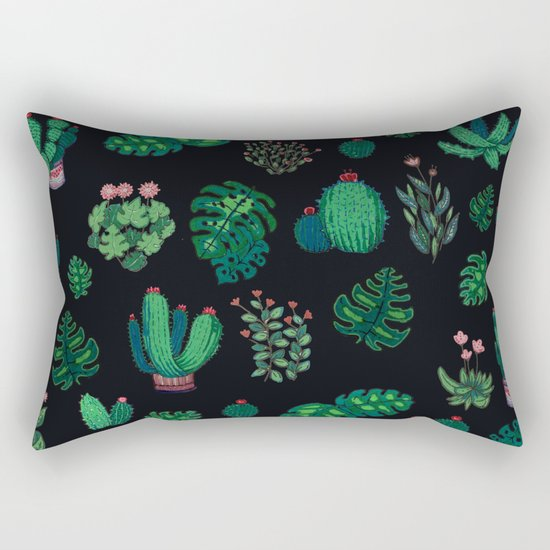 tropical green !! Rectangular Pillow