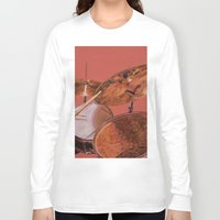 drum Long Sleeve T-shirts featuring Drum Set by Peter Beck