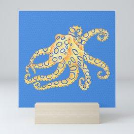 Blue Ring Octopus Mini Art Print