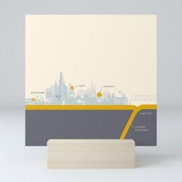 "City on a ""Plate"" Mini Art Print"