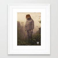 jungle Framed Art Prints featuring Jungle Jaguar by Chase Kunz