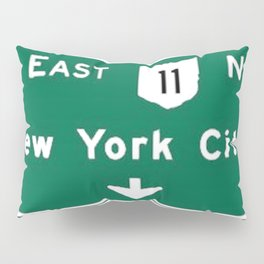 New York City Interstate 80 Sign Pillow Sham