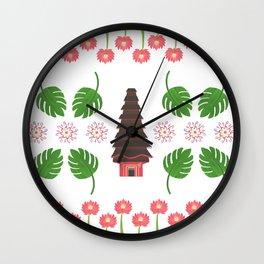 Balinese Pura, Sacred Lotus Temple Wall Clock