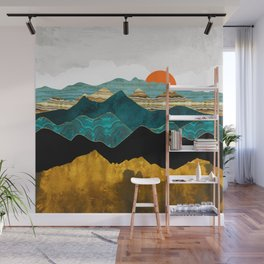 Turquoise Vista Wall Mural