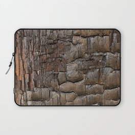 Charred Wood Texture Laptop Sleeve