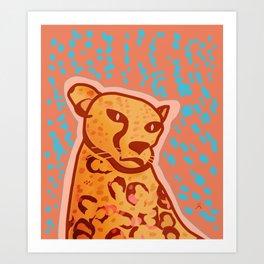 Melancholic Days, Cheetah Art Print