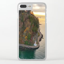 Sunset Over Stanley Park Clear iPhone Case