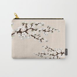 Japanese Sakura Cherry Blossoms (ivory/white) Carry-All Pouch