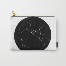 Sagittarius constellation zodiac star sign black and white minimal art Carry-All Pouch