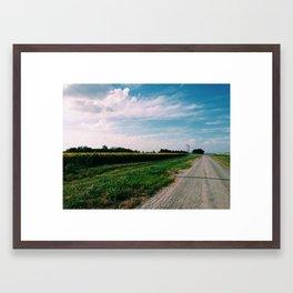 Sunflower Field 2 Framed Art Print
