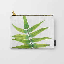 Green Fern Leaf  - Tropical forest Carry-All Pouch