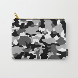 black and white Background Pattern Camo Carry-All Pouch