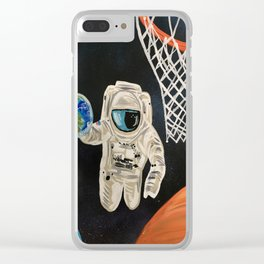 Space Games Clear iPhone Case