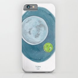 Haruki Murakami's 1Q84 Watercolor Illustration iPhone Case