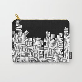Minimalist black / White geometric Carry-All Pouch