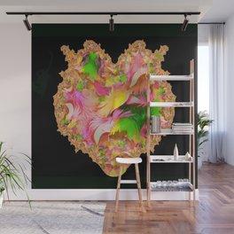 Feather Fractal Heart Wall Mural