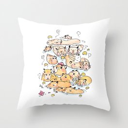 Wild family series - Capybara Throw Pillow