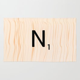 Scrabble Letter N - Large Scrabble Tiles Rug