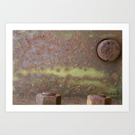 Rusted Bolts Art Print