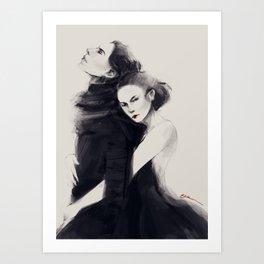 Dark Reylo Art Print