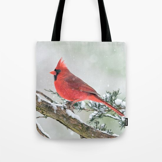 Cardinal Holding Steady in the Storm Tote Bag
