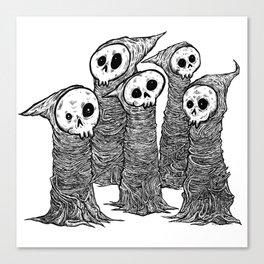 Skull buddies Canvas Print