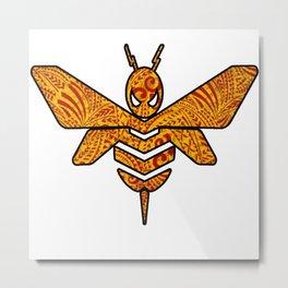 Golden Red Bumble Bee Metal Print